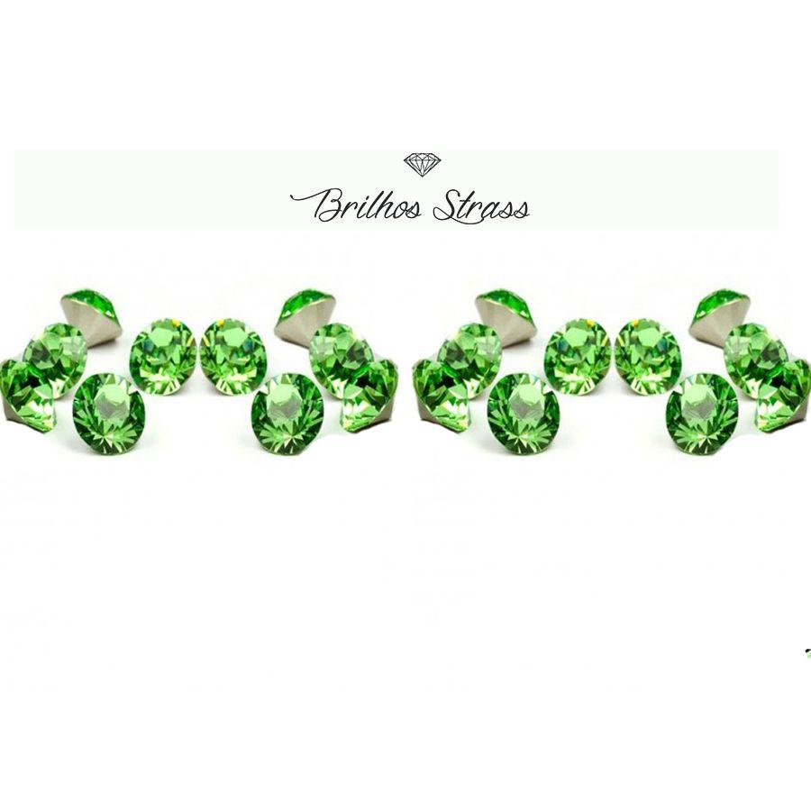 Ponto De Luz Verde - 100 Unidades - Alto Brilho - SS28 / 6MM