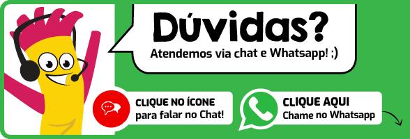 entre em contato por chat ou por whatsapp