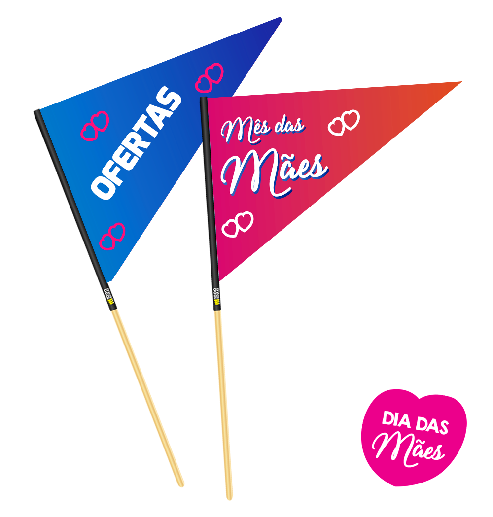 Bandeirinhas Para o Mês das Mães