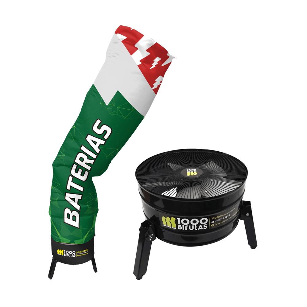 Biruta Canudo com Exaustor Para Baterias