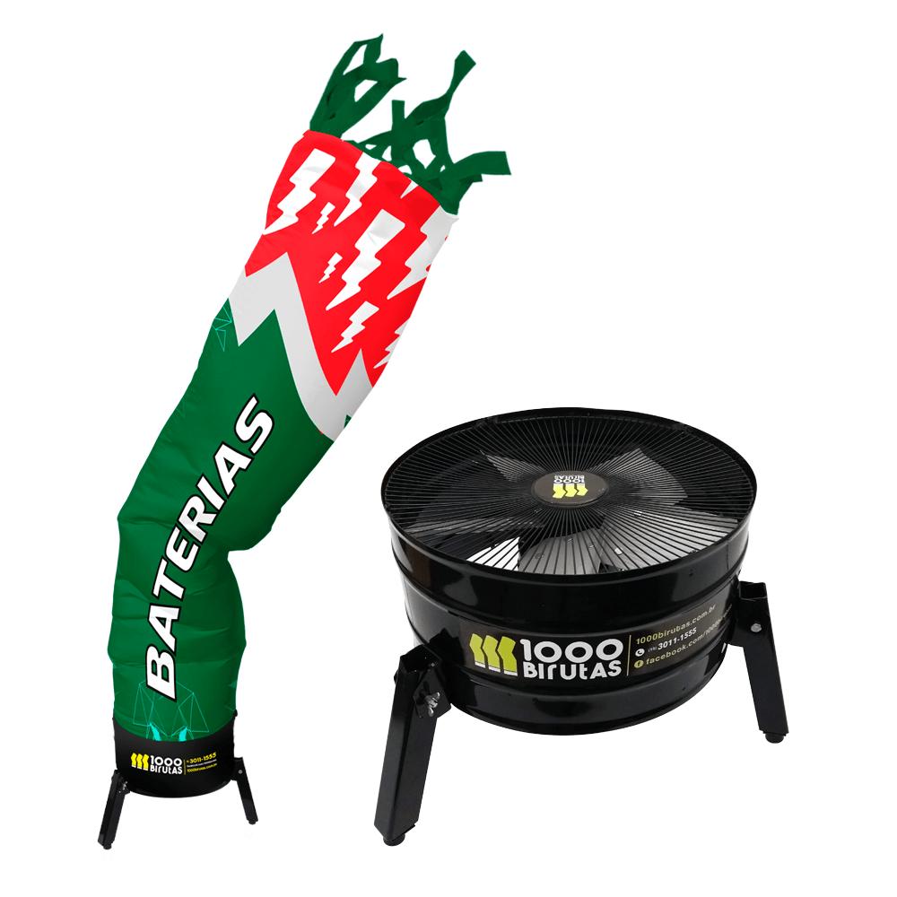 Biruta Canudo Personalizada com Peruca e Exaustor