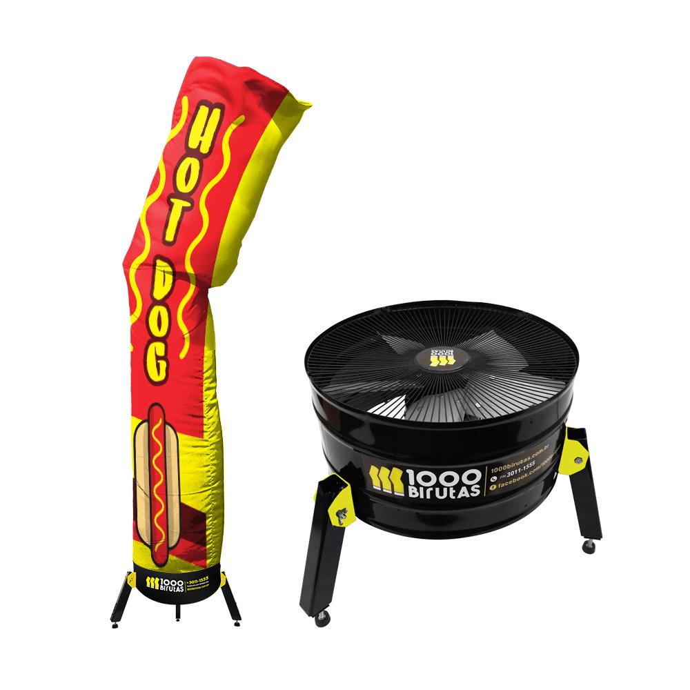 Biruta Canudo START 2,5 Metros com Exaustor Para Hot Dog
