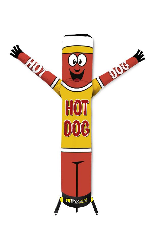 Boneco Bonekito 2M Hot Dog completo com Turbina  - 1000 Birutas