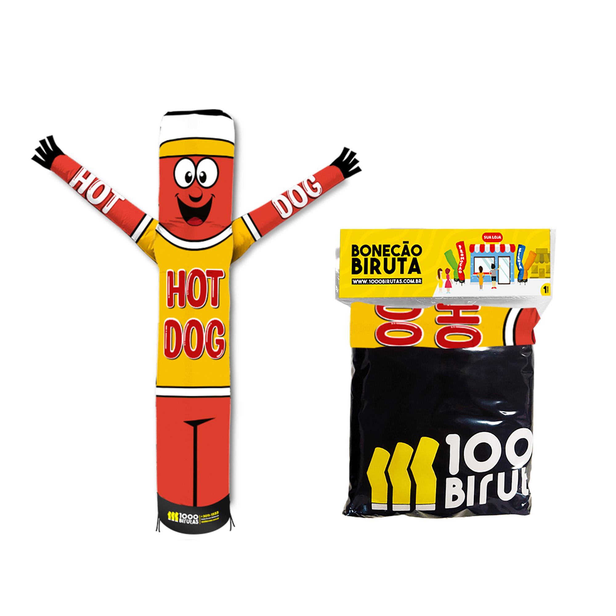 Boneco Bonekito Pano 2M Hot Dog  - 1000 Birutas
