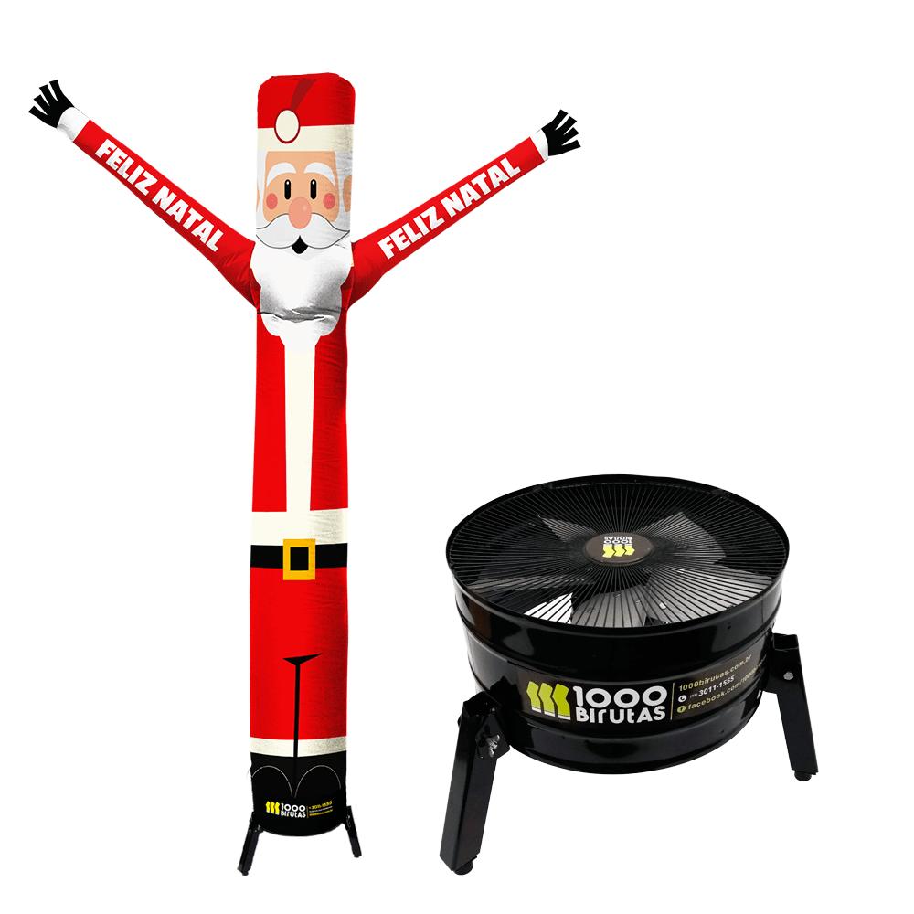 Boneco de Posto Biruta com Exaustor Para Natal