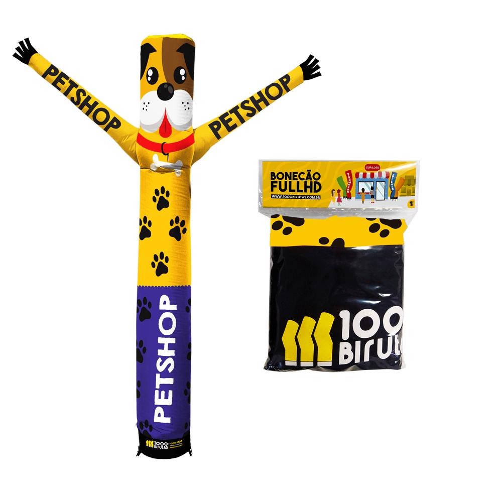 Boneco de Posto Biruta com Exaustor Para Pet Shop  - 1000 Birutas