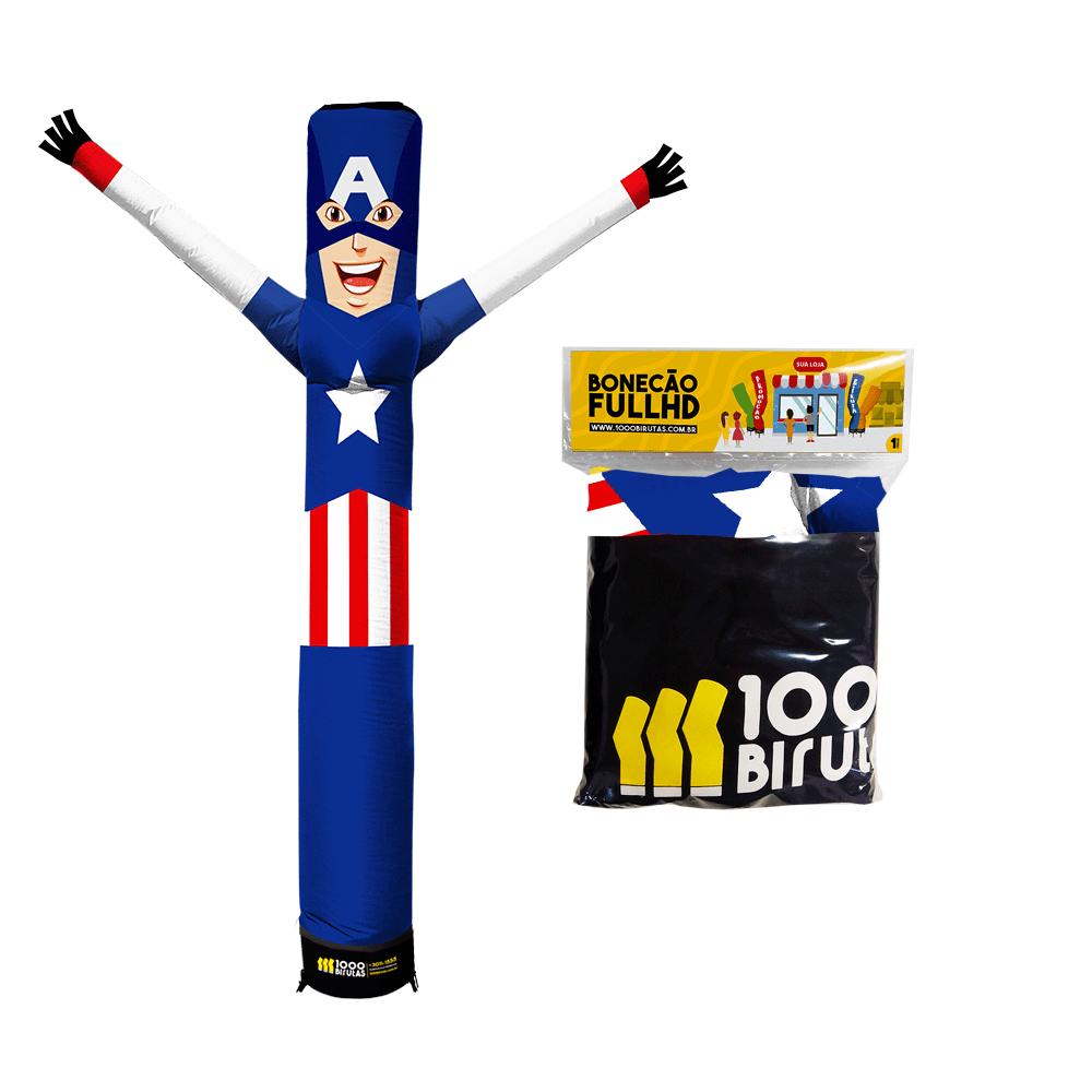 Boneco de Posto Biruta Pano Capitão América  - 1000 Birutas