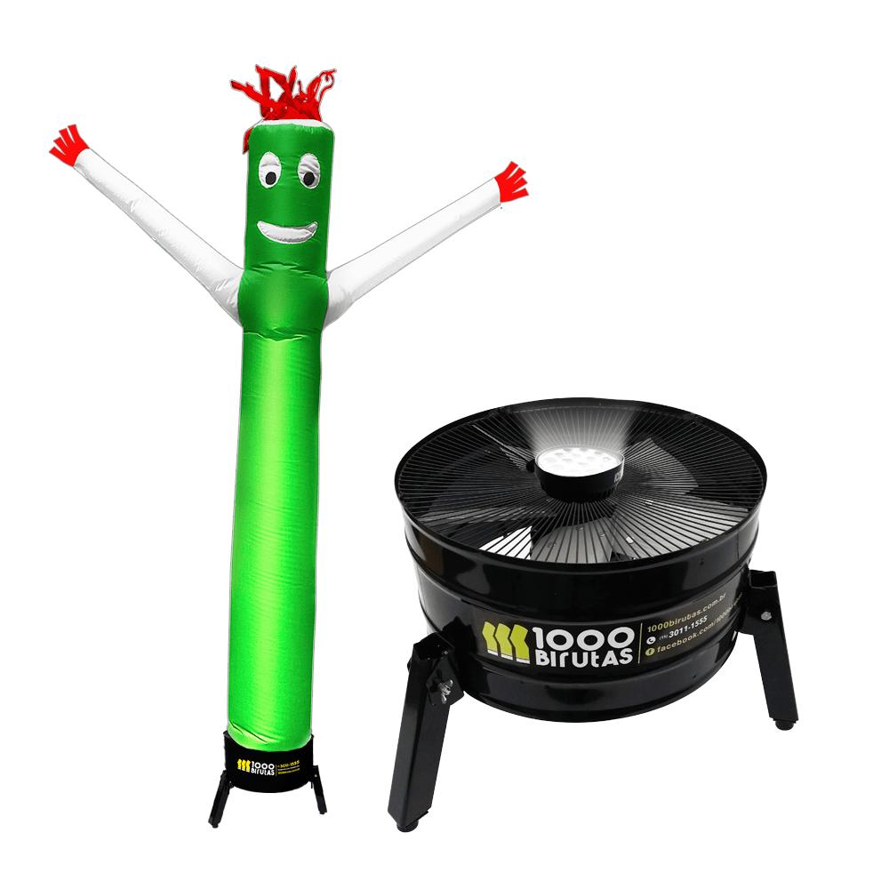 Boneco de Posto Biruta Pano Colorido com Exaustor LED