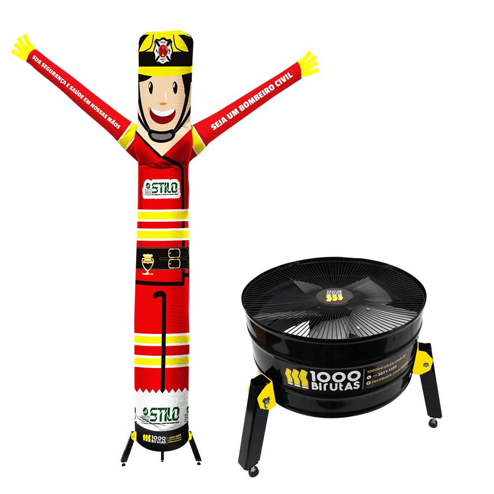 Boneco de Posto Biruta Pano Personalizado com Exaustor  - 1000 Birutas