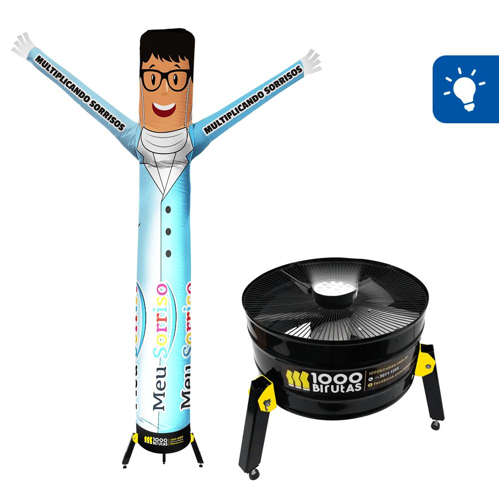 Boneco de Posto Personalizado com Exaustor LED  - 1000 Birutas