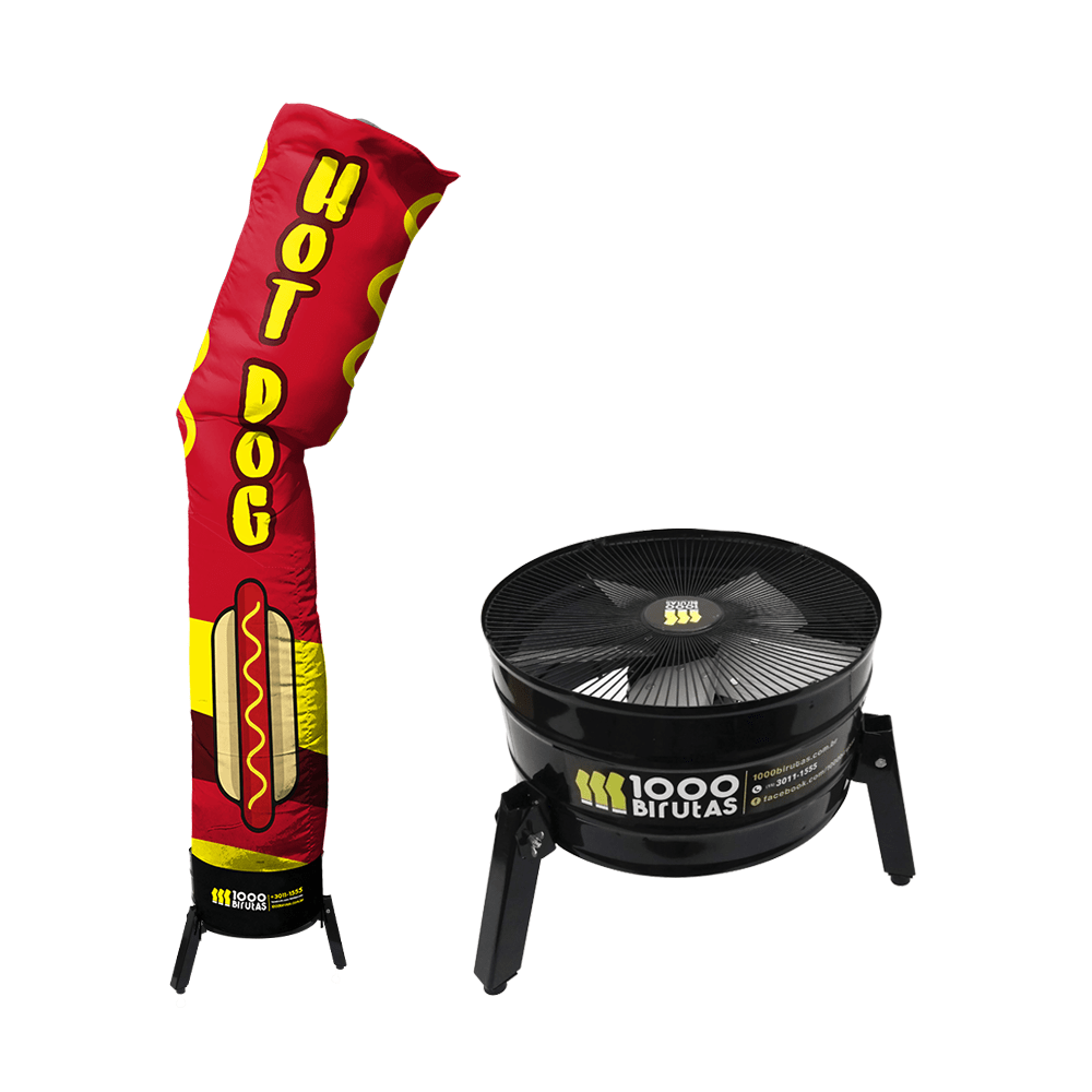 Biruta Canudo com Exaustor Para Hot Dog
