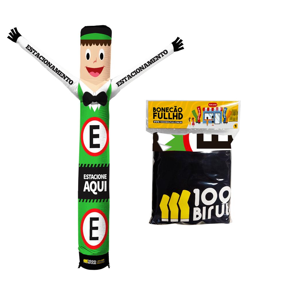 Combo Boneco Biruta 3 metros Personalizado com Exaustor + Pano Boneco Biruta 2 metros Cor Lisa GRÁTIS  - 1000 Birutas
