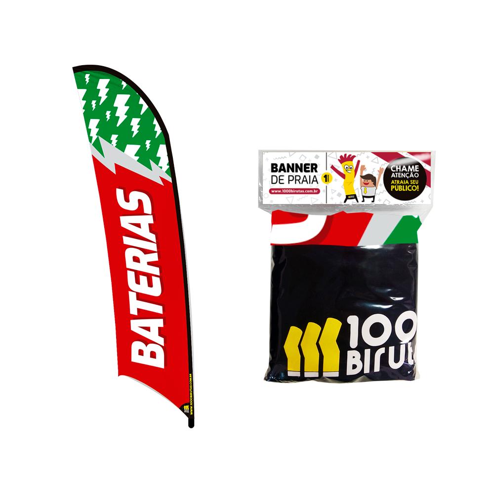 Pano Refil Wind Banner de Praia Flag Personalizado 3 Tamanhos  - 1000 Birutas