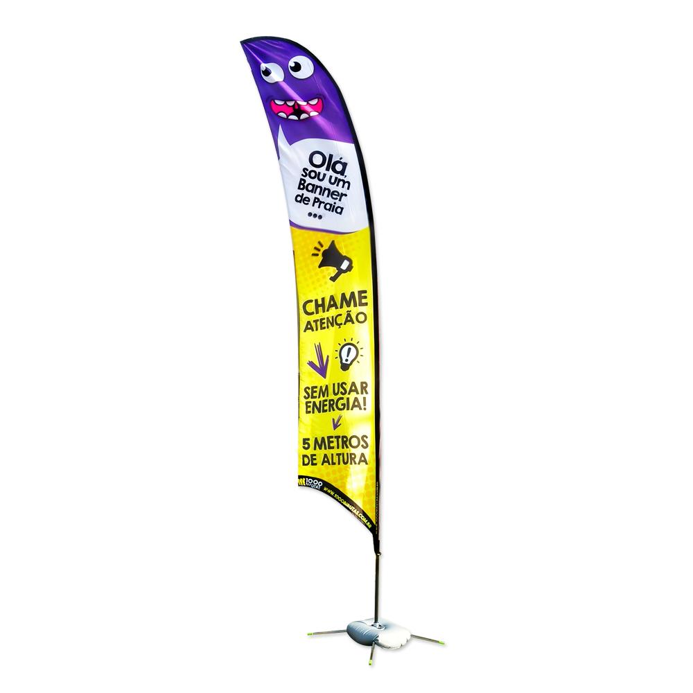 Wind Banner de Praia Flag 5 Metros