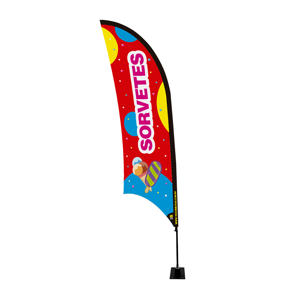 Wind Banner de Praia Flag 2,5 Metros   - 1000 Birutas
