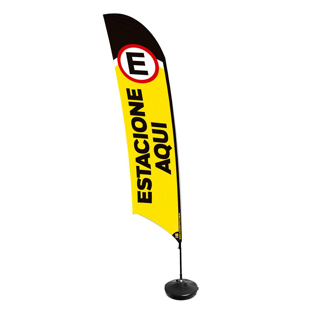 Wind Banner de Praia Flag 3,5 Metros