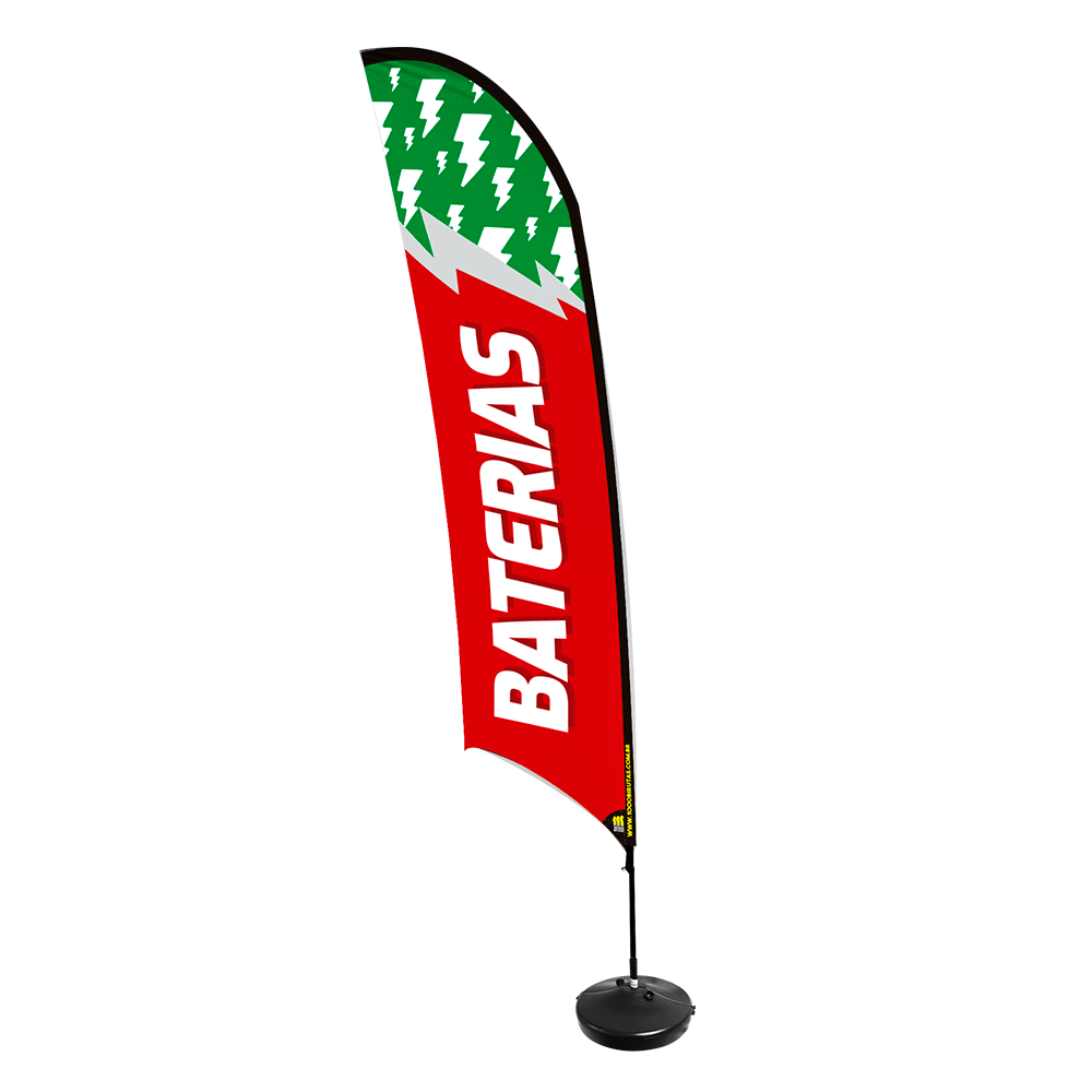 Wind Banner de Praia Flag 3,5 Metros  - 1000 Birutas