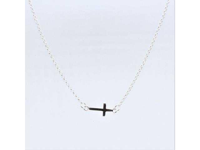 Colar Mini Crucifixo Deitado
