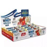 Barra Whey Bar Grego Nutrata Caixa com 12 unidades