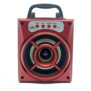 Caixa de Som Bluetooth, USB, AUX Grasep D-BH1018 Vermelha