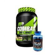 Combat 100% Whey 907g Muscle Pharm + Bcaa 500mg 90 caps Nutrilatina