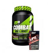 Combat 100% Whey 907g Muscle Pharm + Lipo 6 Black Ultra Concentrado