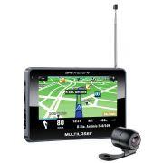 GPS Tracker Touchscreen 4,3 com Câmera de ré e TV Digital Multilaser GP035