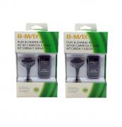 Kit 2 Baterias E 2 Cabos Carregadores para Xbox 360 B-max BM542
