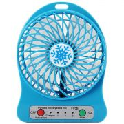 Mini Ventilador recarregável USB Portátil Mini Fan 207861 Azul