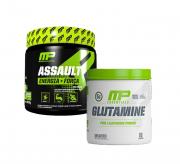 Pré Treino Assault 300g + Glutamine 300g Muscle Pharm