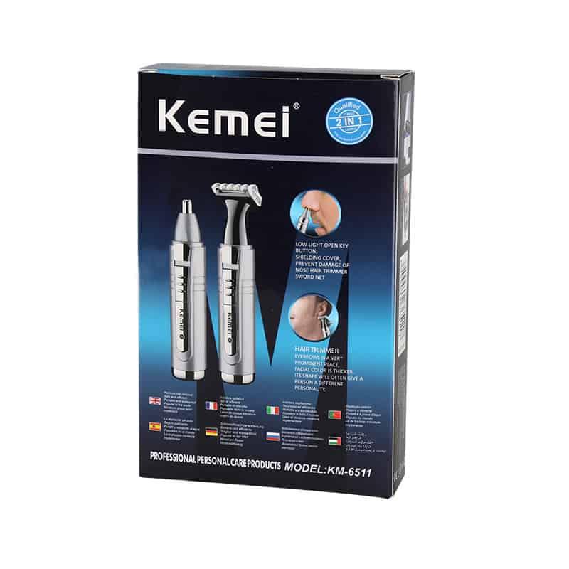 Aparador Profissional de pelos 2 em 1 Elétrica lâmina Kemei 6511