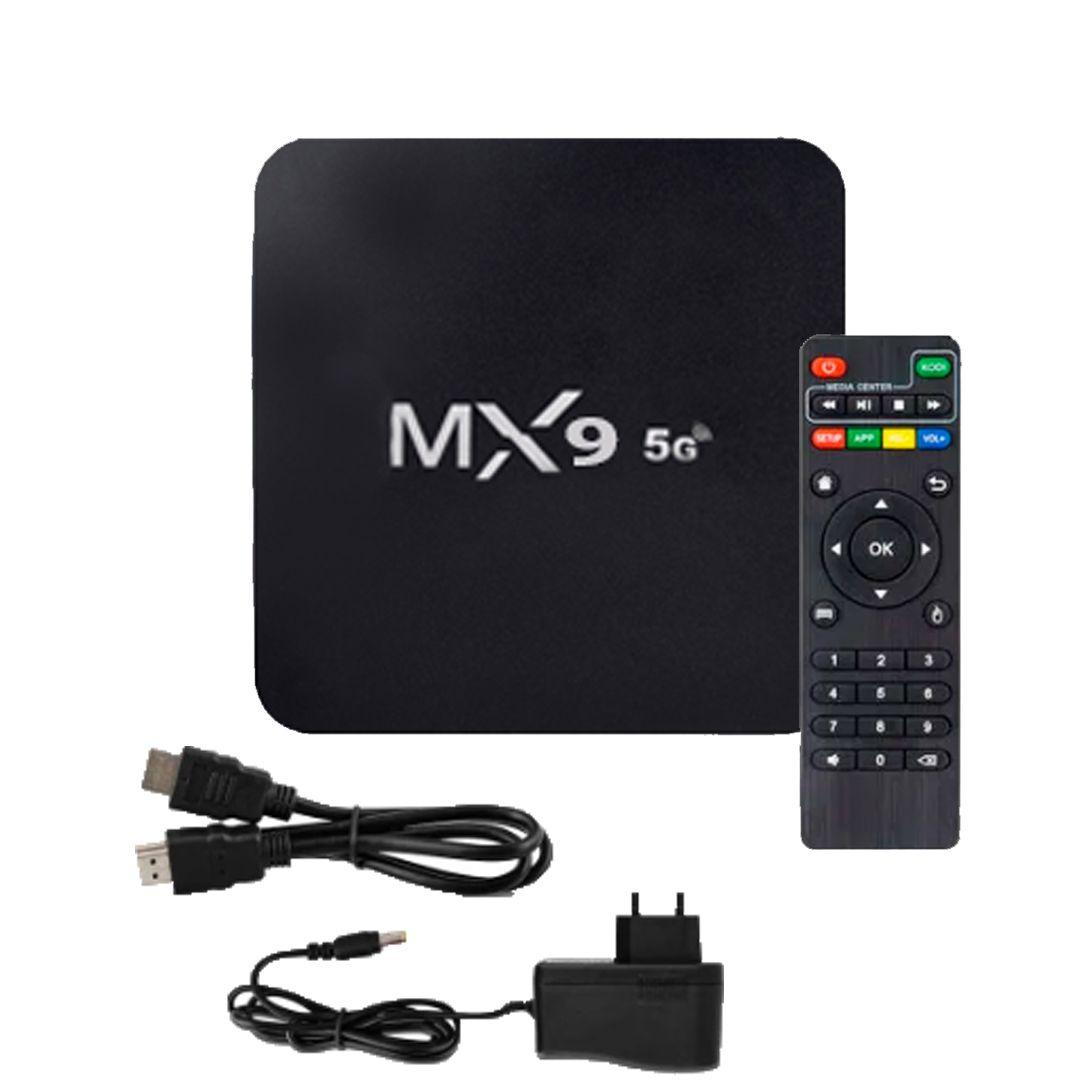 Aparelho Box MX9 4k Android 9.0 5G com Mini Teclado Smart