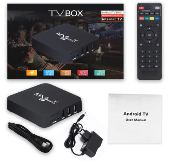 Aparelho Box MXQ Pro Android 9.1 5G 32gb 4k UCD QL 1750