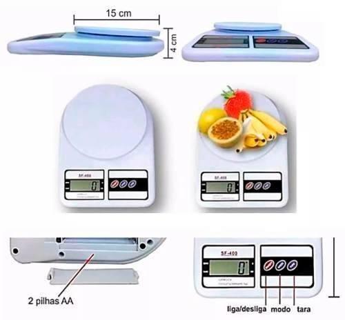 Balança Digital de Cozinha com Capacidade de 10 Kg Ecooda SF-400