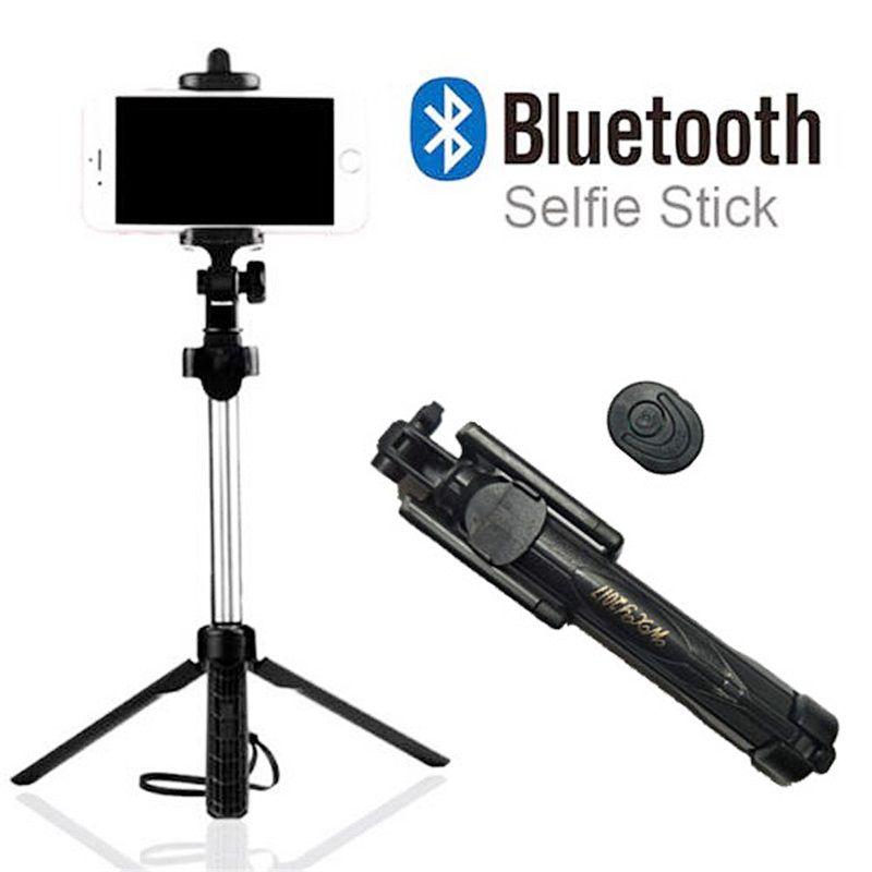 Bastão de Selfie para Celular Tripé e Controle Stick WXY 2017