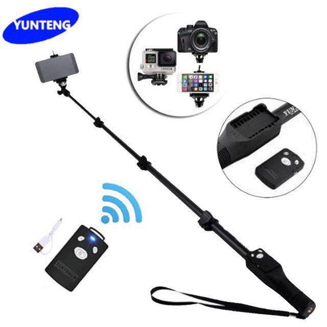 Bastão de Selfie Extensível Bluetooth e Controle Monopé Yunteng YT-1288