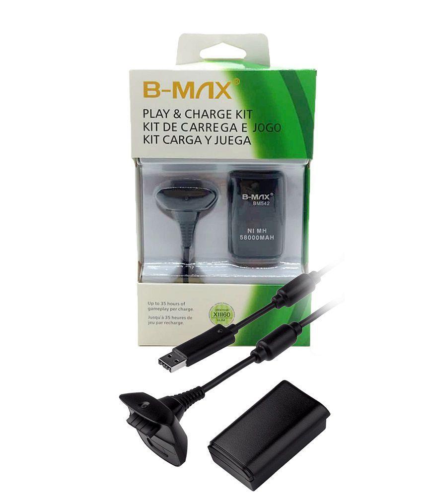 Bateria e Cabo Carregador para Xbox 360 B-max BM542