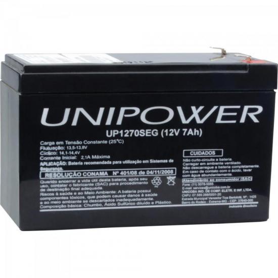 Bateria Estacionária Selada 12V/7Ah VRLA UP1270SEG UNIPOWER