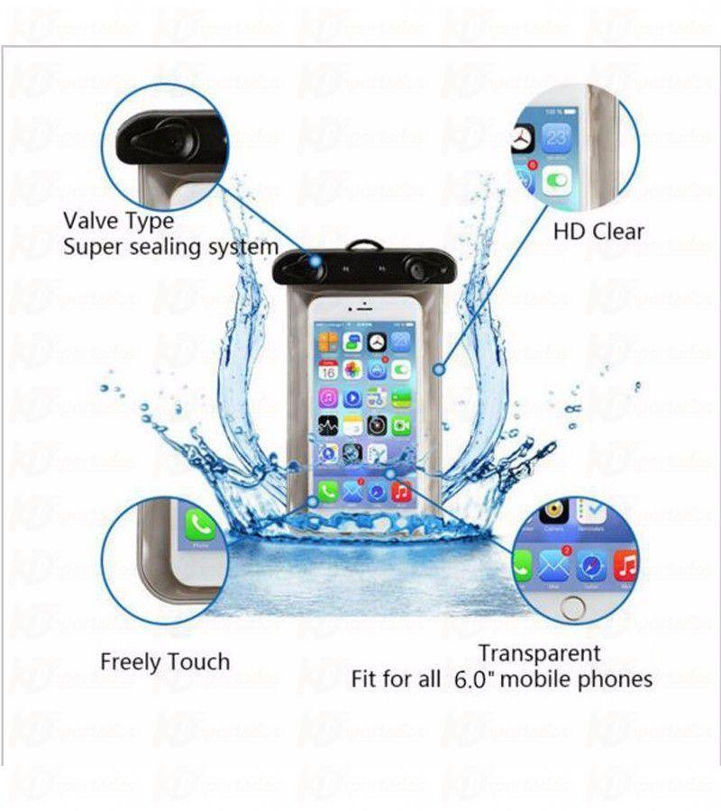 Bolsa Capa A prova D'água para Celular IPX8 Preta