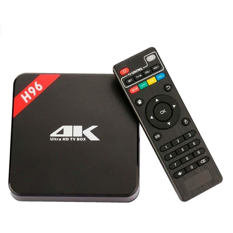 Aparelho Box Tv Smart 7.1 4K Ultra HD H96 Mini Teclado Keyboard Touchpad