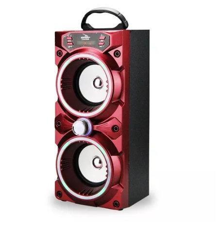 Caixa de Som Bluetooth, USB, AUX Com Luzes de Led Grasep D-BH 2808