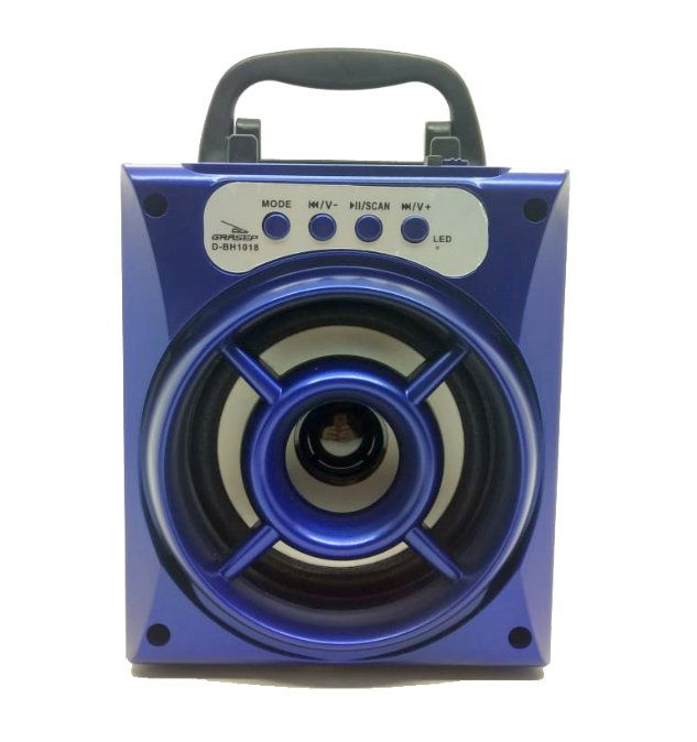 Caixa de Som Bluetooth, USB, AUX Grasep D-BH1018 Azul