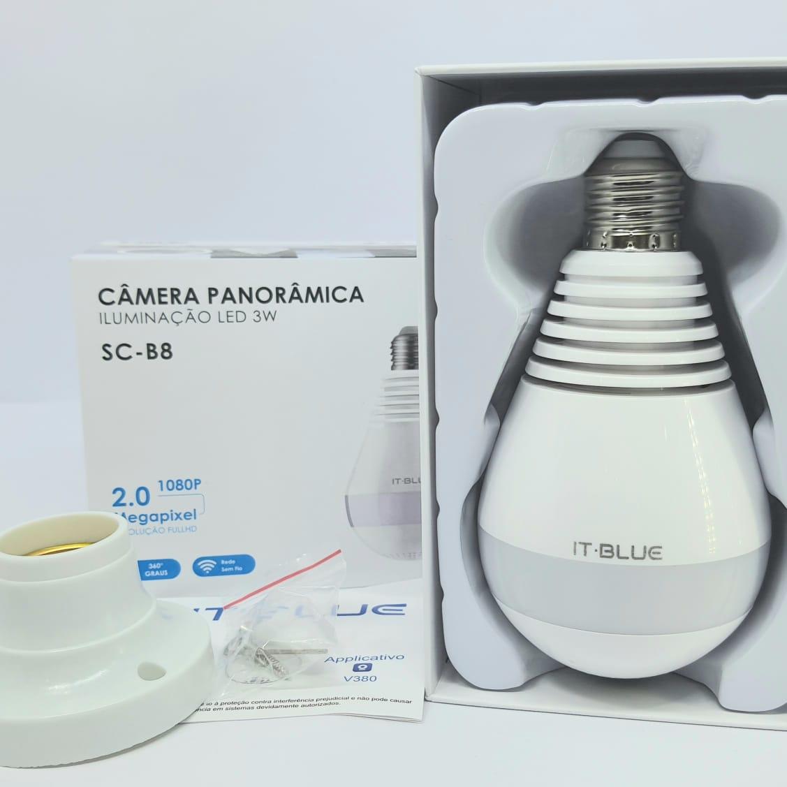 Câmera Lâmpada LED 360 com WI-FI