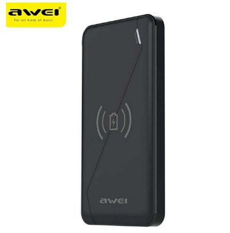 Carregador de Celular Power Bank 10000mah Wireless Original Awei P59k