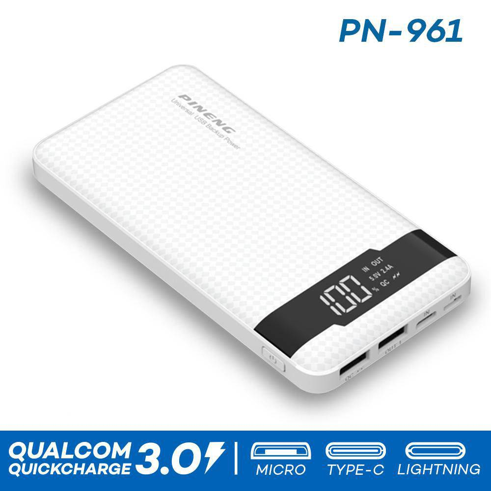 Carregador Power Bank 10000mah Pineng type C PN-961 Branco