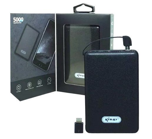 Carregador Power Bank 5000 mAh Knup KP-PB03