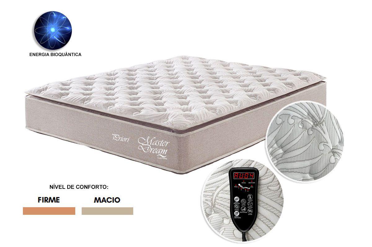 Colchão Casal Molas Ensacadas Priori com Massageador 1.38 x 1.88 Master Dream