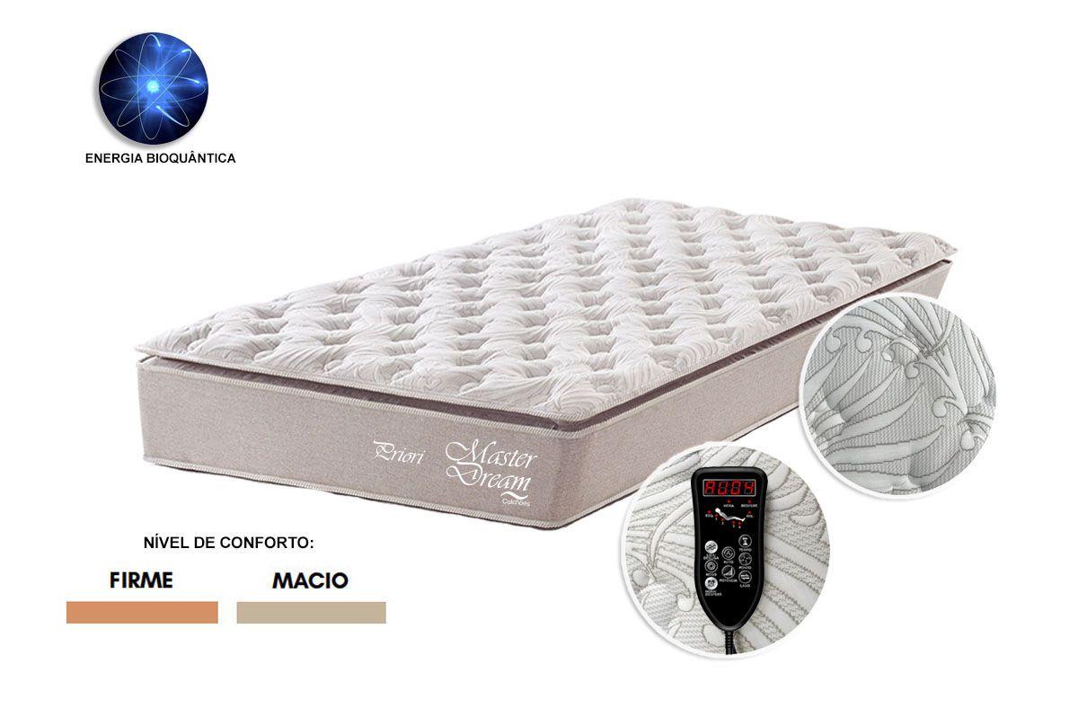 Colchão Solteiro Molas Ensacadas Priori com Massageador 88 x 1.88 Master Dream