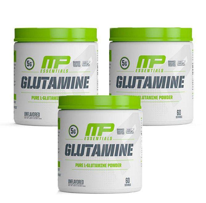 Combo 3 Glutaminas 300g cada Muscle Pharm