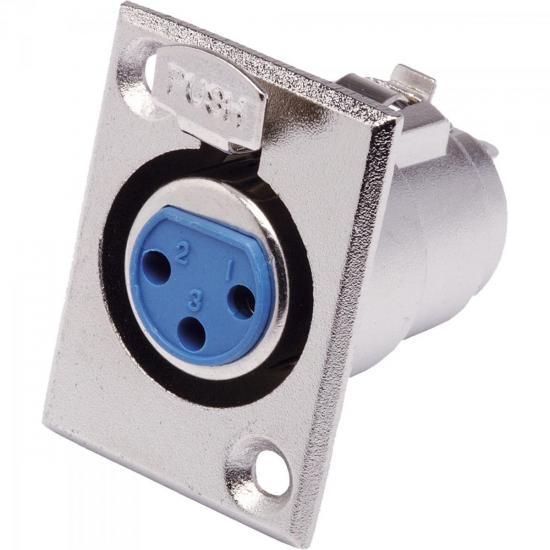 Conector Cannon XLR Fêmea Painel JCCN0010 Níquel STORM - PCT / 10